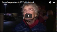 Peggy Seeger at Arctic30 Vigil in Oxford